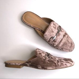 Merona Crushed Velvet Loafers Mules Slides Size 9
